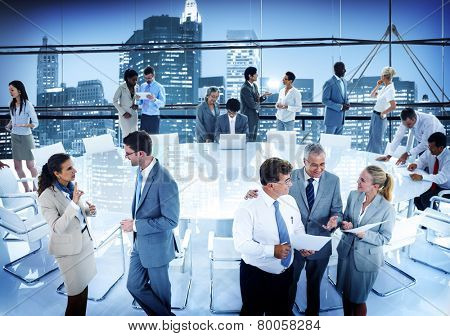 Business People Conference Meeting Boardroom Working Office Concept