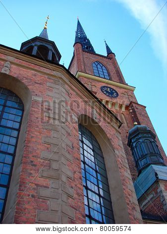 The Clock On The Tower Of The Riddarholm Church In Stockholm, Sweden
