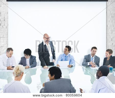Business People Conference Meeting Boardroom Leader Concept