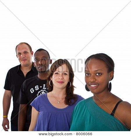 Young Multiracial Group
