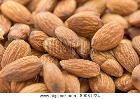 Closeup of almonds