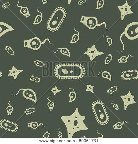 Bacterium Seamless Pattern