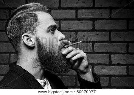 Man Smoking.