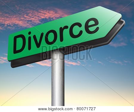 divorce papers or document by lawyer to end marriage dissolution often after domestic violence alimony