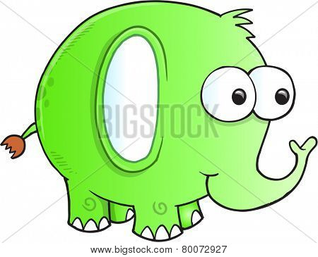 Silly goofy Elephant Vector Illustration Art