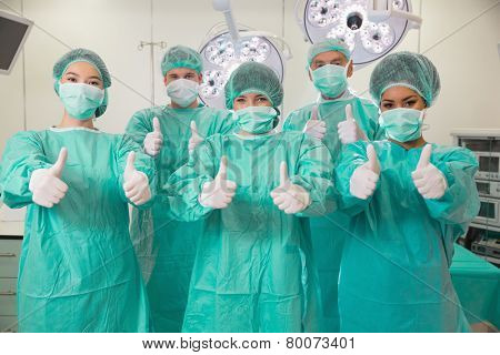 Medical students in operating theater at the university