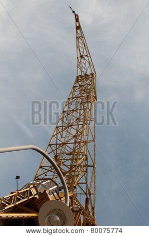 The ancient harbor crane.