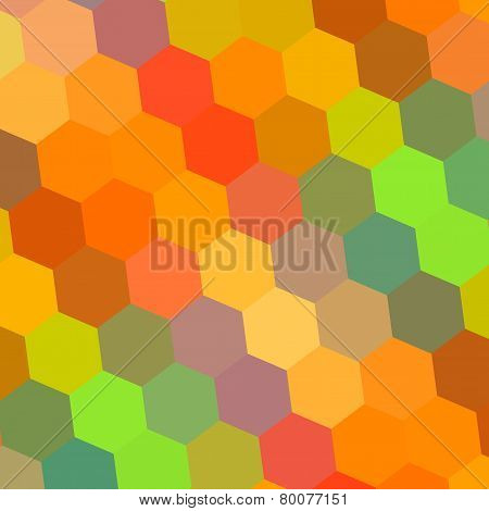 Abstract background in rainbow colors. Pattern element for design illustration. Hexagon mosaic.