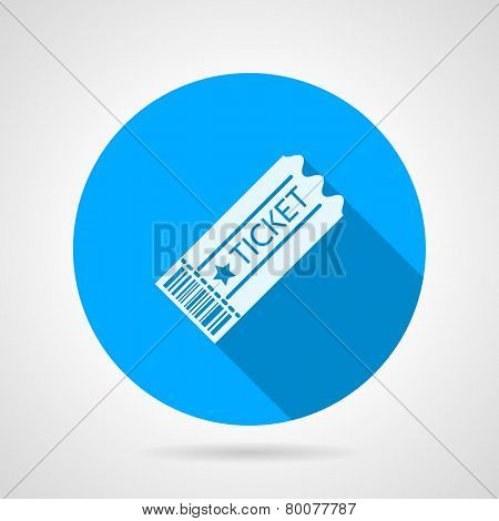 Flat vector icon for ticket