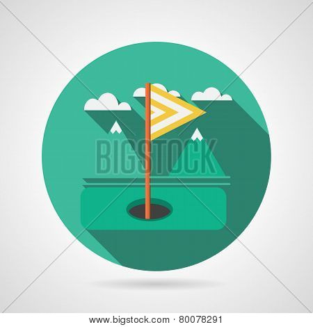 Flat vector icon for golf target flag