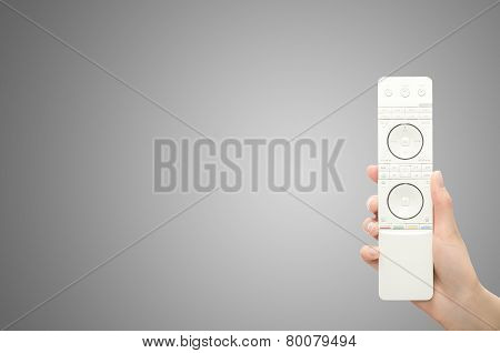 Hand With Remote Control.