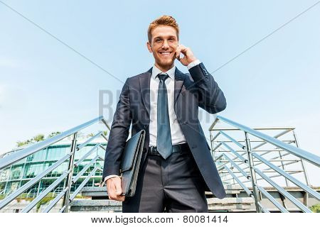Businessman On The Phone.