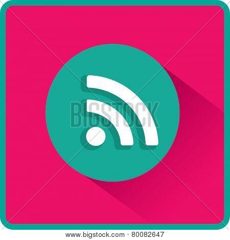 Vector wi fi web flat icon