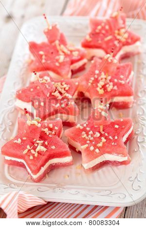 Star Shaped Appetizers.