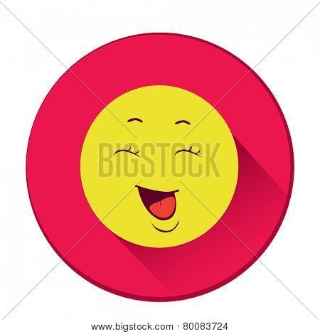 Smiley. Single flat color icon. Vector illustration.
