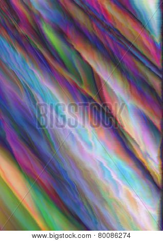 Vivid abstract background with vibrating variegated waves