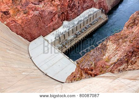 Hoover Dam In Southwest Usa
