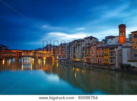 View of bridge Ponte Vecchio. Florence, Italy