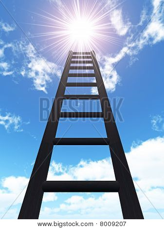 Ladder In The Sky And Sun