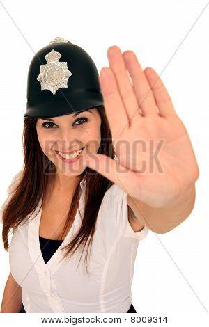 Gorgeous Smiling Policewoman