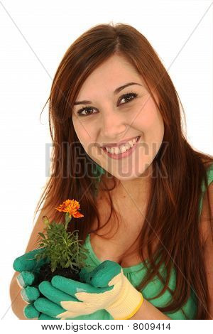 Pretty Gardening Woman
