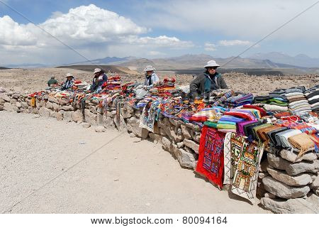 Vendors Selling Local Crafts, Peru