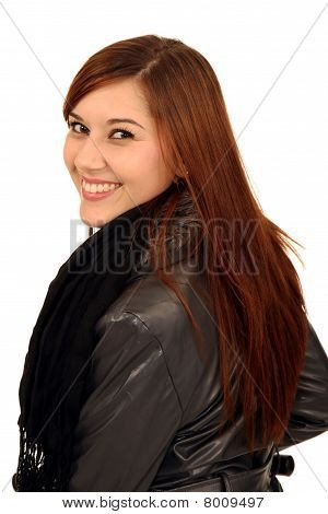Gorgeous Smiling Brunette Woman
