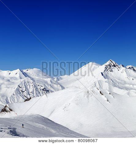 Ski Slope In Nice Sun Day