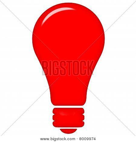 3D luz vermelha