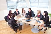 picture of business meetings  - focus group on a business meeting in a modern office - JPG