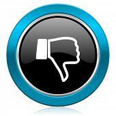 picture of dislike  - dislike glossy icon thumb down sign  - JPG