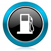 picture of gasoline station  - petrol glossy icon gas station sign  - JPG