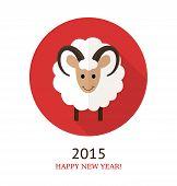 foto of ram  - Vector illustration of ram symbol of 2015 - JPG
