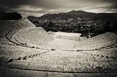 picture of epidavros  - ancient ruins of epidaurus theater peloponnese greece - JPG