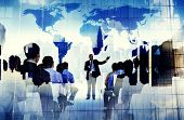 stock photo of seminars  - Business People Global Seminar Conference Meeting Training Concept - JPG