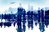 stock photo of terminator  - Business People Travel Departure Aiport Passenger Terminal Concept - JPG