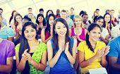 pic of applause  - Group People Casual Learning Lecture Applause Clapping Concept - JPG