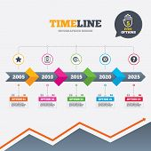 stock photo of cogwheel  - Timeline infographic with arrows - JPG