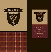 pic of barbershop  - Vector heraldic logo for a hairdressing salon - JPG