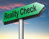 picture of life event  - reality check up road sign for real life events and realistic goals down to earth  - JPG