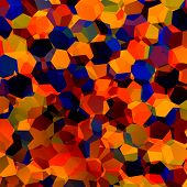 picture of hexagon pattern  - Abstract colorful chaotic geometric background - JPG