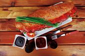 foto of french curves  - sandwich on plate  - JPG