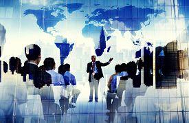 foto of seminar  - Business People Global Seminar Conference Meeting Training Concept - JPG