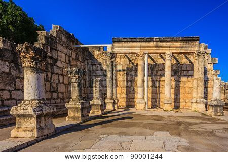 Ruins of the ancient White synagogue in which Jesus Christ preached.