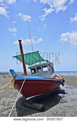 Boat On The Beach, Huahin Thailand