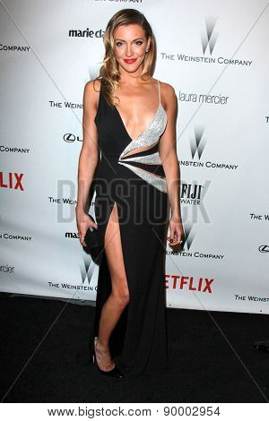 LOS ANGELES - JAN 11:  Katie Cassidy at the The Weinstein Company / Netflix Golden Globes After Party at a Beverly Hilton Adjacent on January 11, 2015 in Beverly Hills, CA