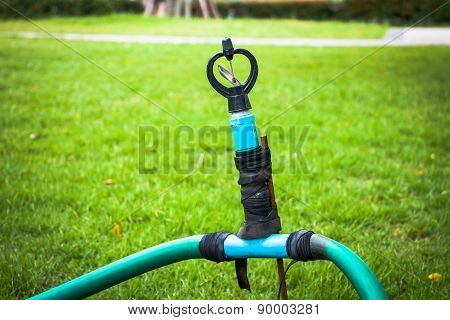 Old Sprinkler Modify On Grass