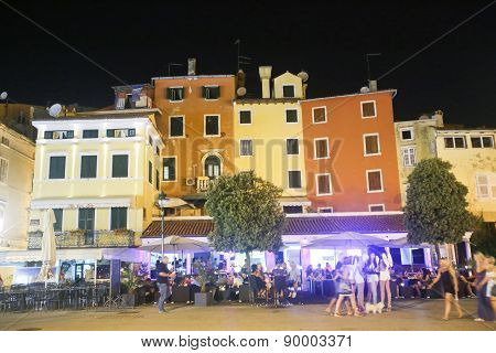 Night Club On Promenade In Rovinj