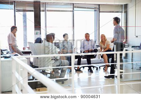 Business meeting in a modern office