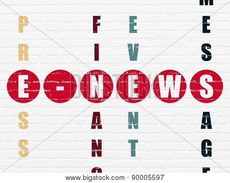 News concept: word E-news in solving Crossword Puzzle